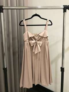 Nude Satin Dress S