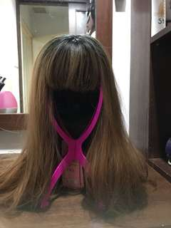 Honey Brown long hair wig curly