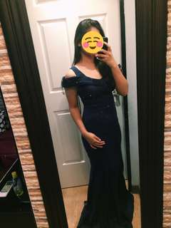 Navy Blue Elegant Gown (Rent)