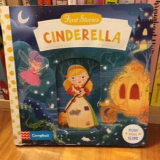 Cinderella board book with flaps