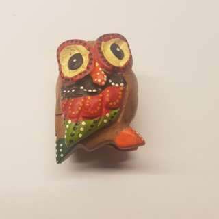 Handcarf owl decoration from thailand