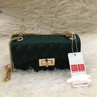 Usupso jelly bag chain dark green