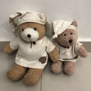 Pajamas Teddy Bears (removable cloths)