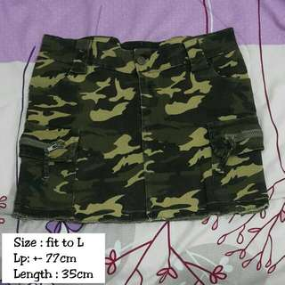 Army Mini Skirt