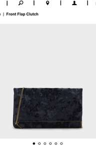 Charles and Keith front flap clutch
