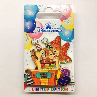 Disney pins birthday chip and Dale