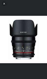 Samyang 50mm cine 1.5