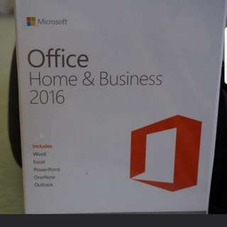 Microsoft Office 2016 for Windows or mac  (hardcopy)