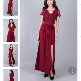 Ohvola red lace Maxi M
