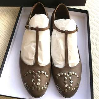 Chanel  T-strape ballerina shoes  *Size 38  *Made in Italy