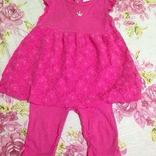 TERNO BABY PINK DRESS