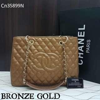 Chanel GST Caviar Bronze Gold Color