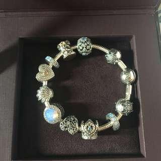 Price down: Pandora bracelet 17cm👑