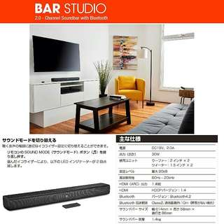 JBL BAR STUDIO  SoundBar/USB Player/Buletooth Speaker ❤ 原裝行貨,一年保用,4 點前地鐵站交收
