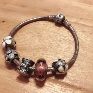 Pandora 17cm 連charms