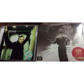 Nm vg+ Sting cds best comp and brand new day 2 albums hd