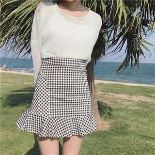 PO Daelyn Gingham Skirt