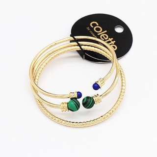 Gelang Set Isi 3 / Bangle Branded Colette Batu Alam