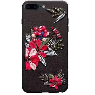 iPhone 刺繡花機殻
