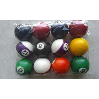 Billiard Ball. Stress Ball. made of Soft Rubber. P50. Each