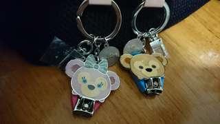 迪士尼鎖匙扣指甲鉗一對