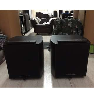 A Pair of Mordaunt Short Mezzo 9 Dual 8-inches Powered Active Subwoofer (375Watts RMS, 450Watts Peak) with original remote control (2 Pieces).