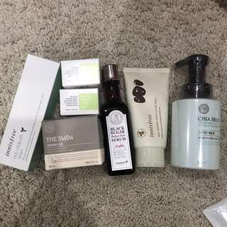 KOREAN SKINCARE CLEARANCE