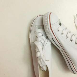 white school shoe