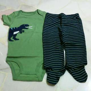Carters 9 Months Romper With Long Pants