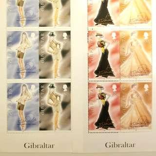 時裝迷收藏英國绝版YR 1998 DIOR designer特別版郵票