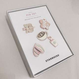 Enamel Pin Set Starbucks NEW