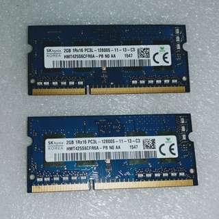 SKhynix KOREA 2GB x2 DDR3L 1.35V HMT425S6CFR6A-PB DDR3L 1600MHz