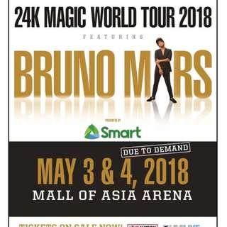 LF: 2 Bruno Mars Manila Upper Box Tickets