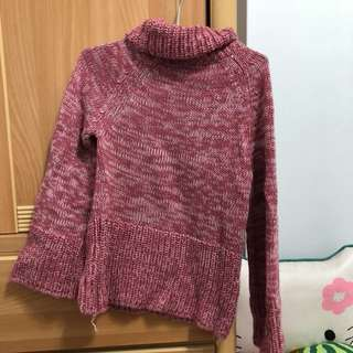 🚚 喇叭袖粉色毛衣