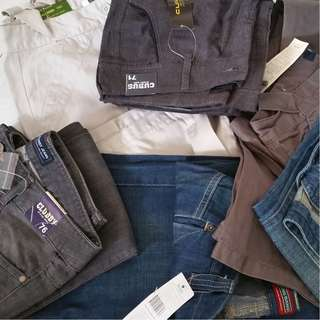 Warehouse Clearance. Selling by  Lot only. Good Quality Man's Pants & Ladies Jeans  (Quantity: Est. 200/lot)