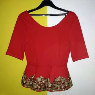 Red peplum
