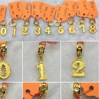 916 Gold Pendant 0-9