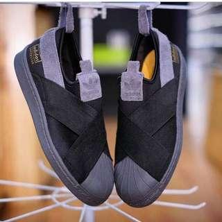 Adidas Superstar Slip On Black Grey