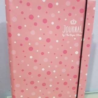 The Paper Stone Pink Polka Dots Notebook/ Organiser/Journal