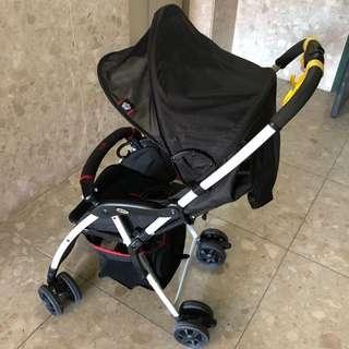 Aprica/英國國旗/嬰兒推車/傘車/輕便型/單手操作