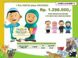Hafiz & hafizah talking doll
