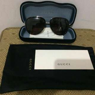 Authentic GUCCI aviator tortoise brown sunglasses