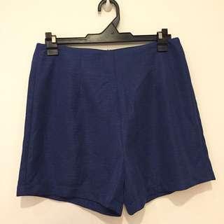 High Waisted Blue Shorts