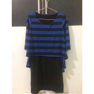 Middle blue-black dress