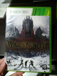 Xbox 360 LOTR War in the North (Brand New)