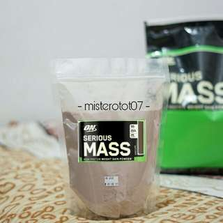 TRIAL SIZE 1 KG SERIOUS MASS ON CHOCO GAINER PROTEIN