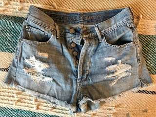 Citizens of Humanity Chloe High Waisted Distressed Cutoff Shorts size 24