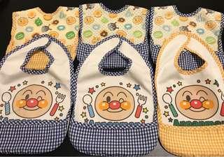 麵包超人圍兜口水肩(全套購自日本松板)