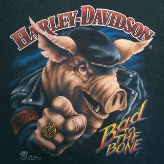 RARE VINTAGE 1987 HARLEY DAVIDSON 3D EMBLEM BAD TO THE BONE