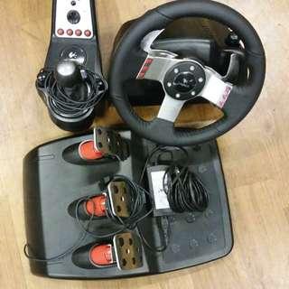Logitech G27 Racing Wheel with shifter